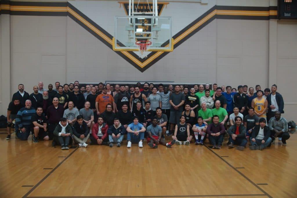 group of basketball players